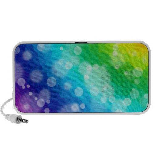 Bokeh Rainbow Pattern iPod Speaker