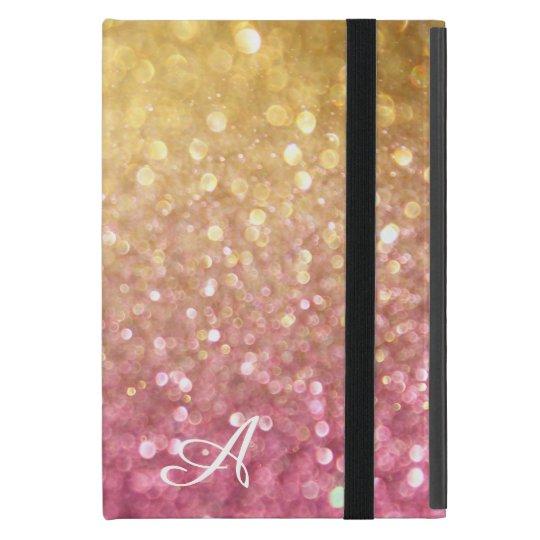 Bokeh Shimmering Glitter Look Gold Pink Sparkle Case