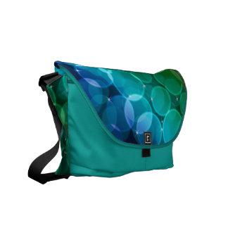 Bokeh sparkle messenger bag