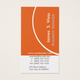 BOLD Abstract Custom Modern Color Business Card