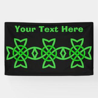 Bold Abstract Irish Green Celtic Knot