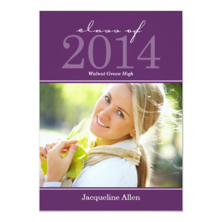 Bold and Beautiful Graduation Invitation - Purple