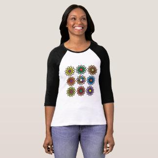 Bold and Beautiful Square Flower Pattern T-shirt