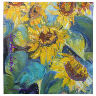 Bold and Beautiful Sunflowers, Sue Ann Jackson Napkin