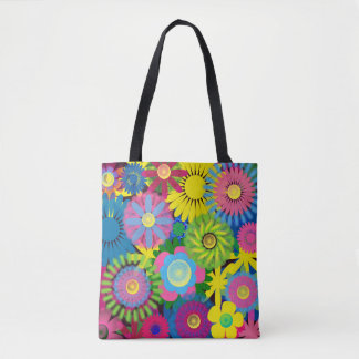 Bold and Colorful Floral Bag Tote Bag