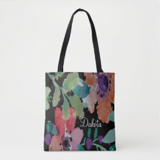 Bold And Colorful Floral Watercolor | Tote Bag