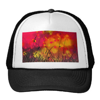 Bold and Cool Red Green Dreamy Abstract Cap