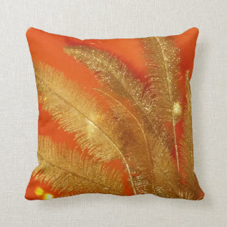 Bold and Gold Feather pillow