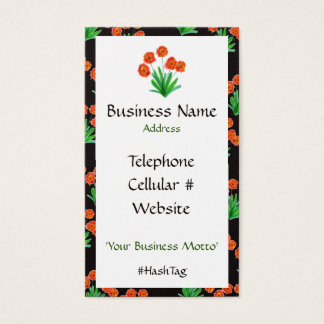 Bold And Pretty Flowered Business Card