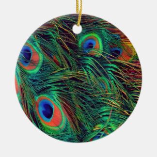 Bold and Rich Peacock Christmas Ornament