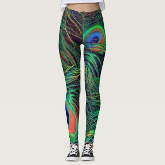 Bold and Rich Peacock Leggings