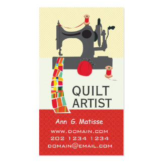 Bold  Arts and Crafts Quilt Artist Pack Of Standard Business Cards