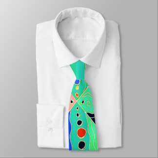 Bold artsy colorful modern abstract pattern tie