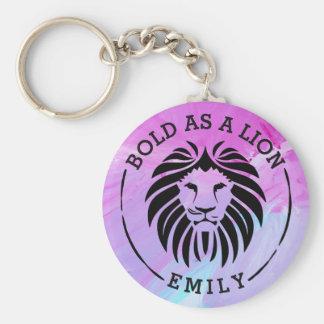 Bold As A Lion Keychain