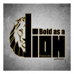 Bold as a Lion (Proverbs 28:1) Poster