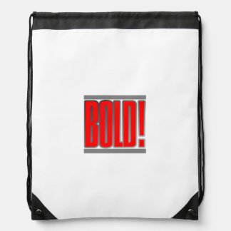 BOLD! Back Pack Cinch Bags