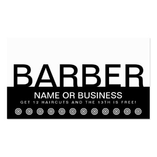 bold BARBER customer loyalty card Pack Of Standard Business Cards