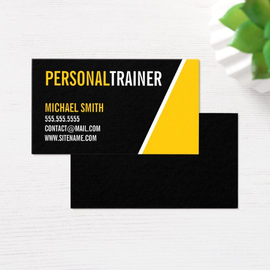 Bold Black and Custom Colour Personal Trainer Business