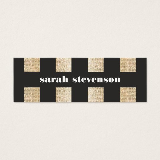 Bold Black and Gold Faux Sequin Modern Fashionista