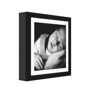 Bold Black and White Baby Mini Canvas Canvas Print