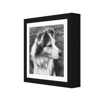 Bold Black and White Instagram Photo Gallery Wrapped Canvas