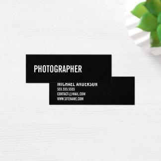 Bold Black and White Mini Business Card
