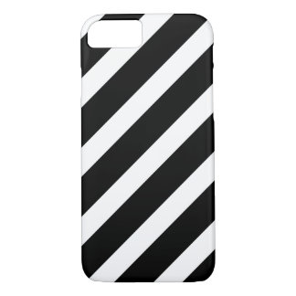 Bold Black and White Stripes Pattern iPhone 7 case