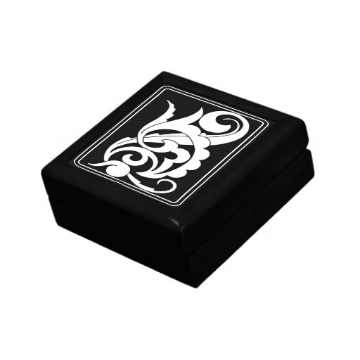 Bold Black and White Swirl Deco Gift Boxes