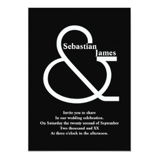 Bold Black and White Wedding Card