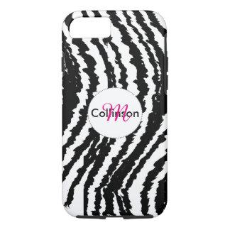 Bold Black and White Zebra Stripe Design iPhone 8/7 Case