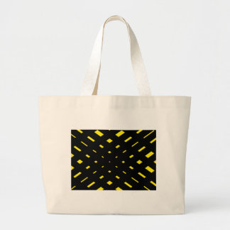 Bold black and yellow abstract tote bag