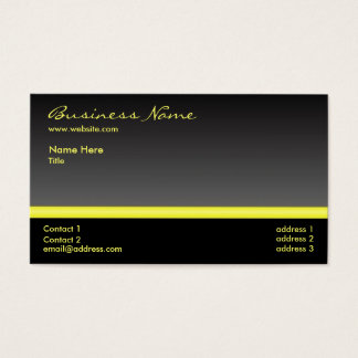 Bold Black and Yellow business card