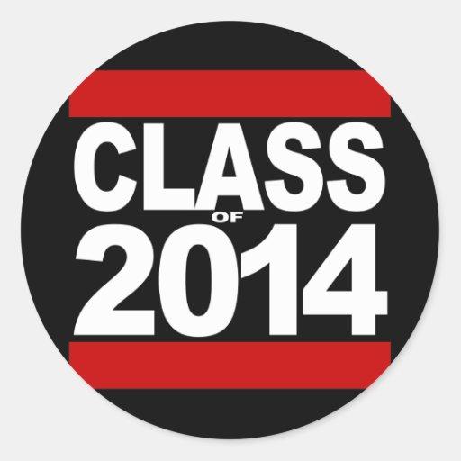 Bold Black Block Class of 2014 Graduation Sticker