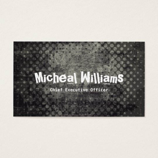 Bold Black Grunge CEO Company Business Cards