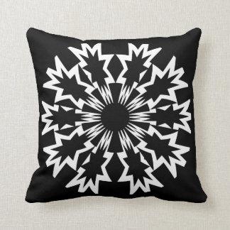 Bold Black White Circled Pattern Throw Pillow