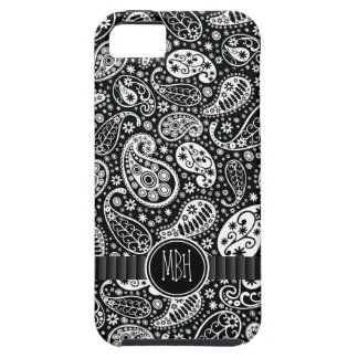 Bold Black White Country  Paisley Personalized Tough iPhone 5 Case
