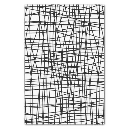 Bold Black & White Scribble Art Tissue Paper