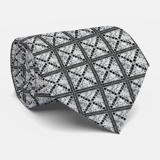 Bold Black & White Square & Box Print Tie