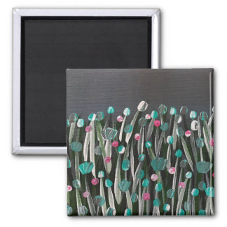 Bold Blooms Square Magnet