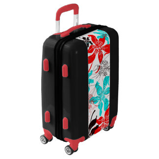 Bold Blossoms Luggage