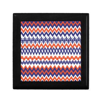 Bold Blue and Orange Tribal Chevron Pattern Gift Boxes