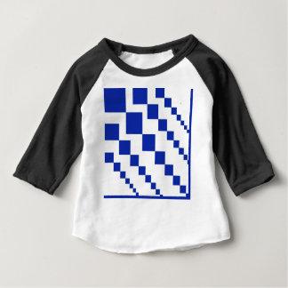 Bold Blue Descending Diamonds Baby T-Shirt