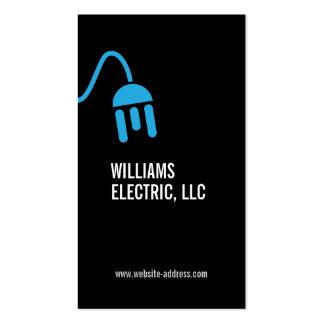 BOLD BLUE ELECTRICIAN LOGO MODERN BUSINESS CARD