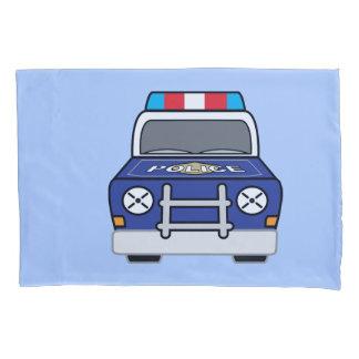 Bold Blue Police Patrol Car Pillowcase