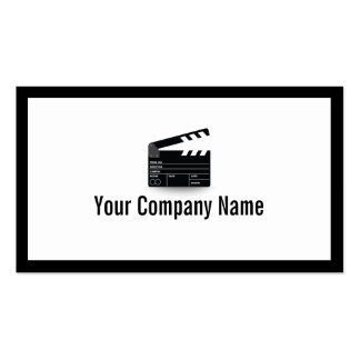 Bold Border Clapperboard Director Business Card