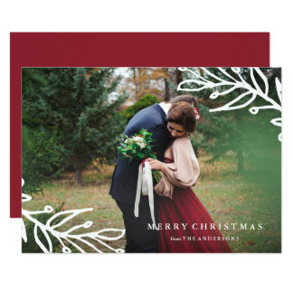 Bold Branches Holiday Photo Card