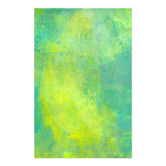 Bold Bright Abstract Design In Green and Yellow Customised Stationery