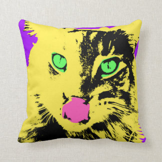 Bold Bright Cat Face Cushion