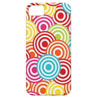 Bold Bright Colorful Concentric Circles Pattern iPhone 5 Covers