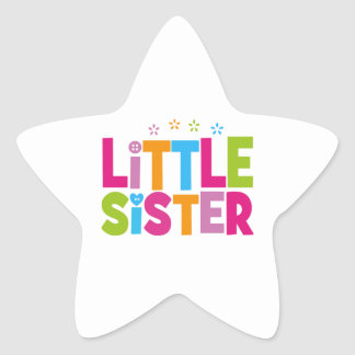 Bold, Bright &Colorful Little Sister Star Sticker